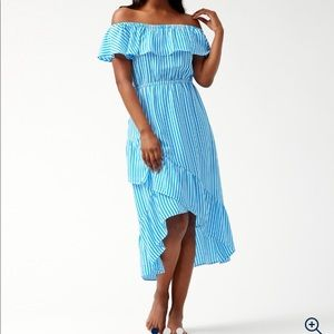 Tommy Bahama Palm Party off the Shoulder Dress